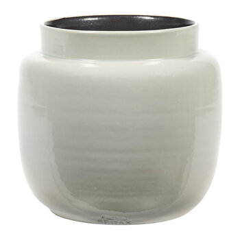 Glazed Shades Flower Pot - Light Grey