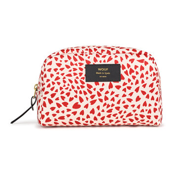White Hearts Big Beauty Bag