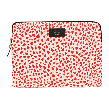 White Hearts Laptop Case