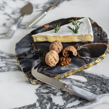 Grey Marble Look Resin Cheese Knives - Set of 4