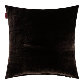 Crest Embroidered Cushion 45x45cm - Brown