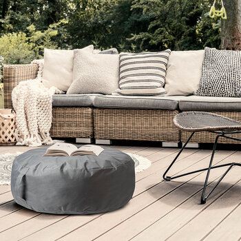 Inflatable Pouf - Dark Grey - 60x20cm