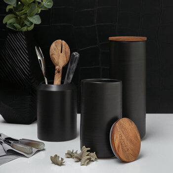 Matt Black Utensil Pot