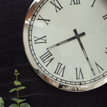 Round Wall Clock - Silver