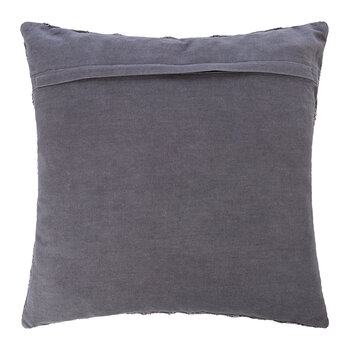 Embroidered Chenille Cushion - 45x45cm - Grey