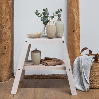Frosted Glass Storage Pot - Natural