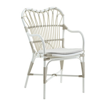 Margret Outdoor Rattan Dining Chair - Dove White