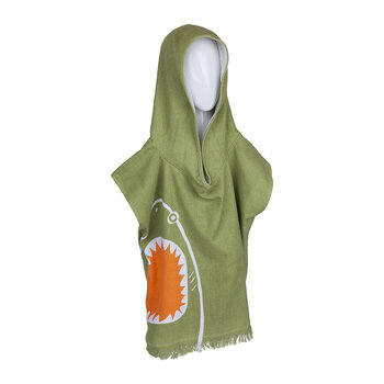 Beach Poncho - Shark Attack - Olive