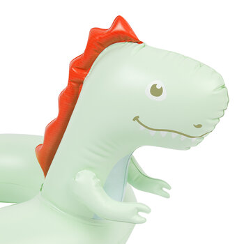 Mini Inflatable Surfing Dino Pool Ring - Multi