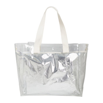 Cooler Carry Me Tote Bag - Metallic - Silver