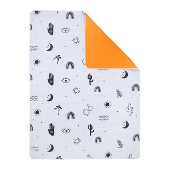 Wash Me Beach & Picnic Blanket - Black, White & Neon Pomelo