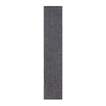 Mini Basketweave Woven Table Runner - Cool Grey