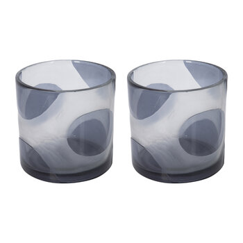 Black Spot Tealight Holder - Set of 2