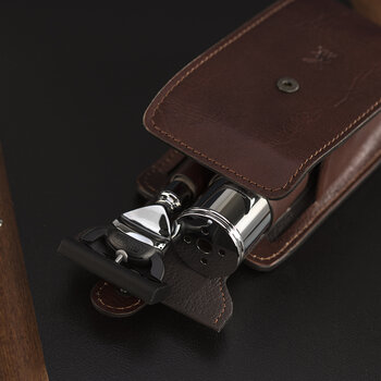 Fusion Razor Travel Set - Brown Leather Case