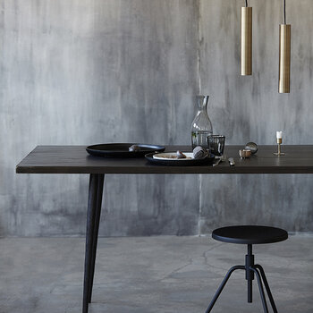 Club Dining Table - Black - Large
