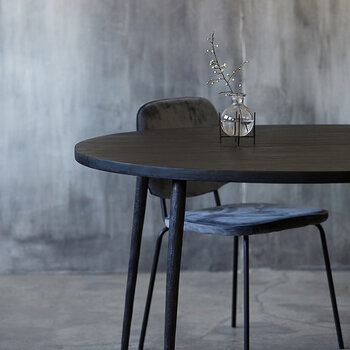 Club Dining Table - Round - Black Wood