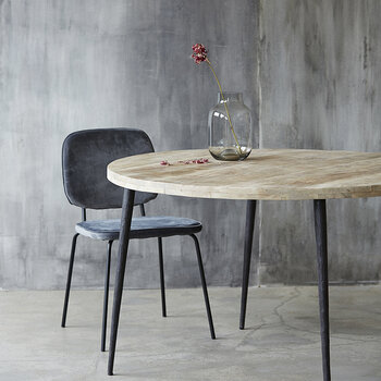 Club Dining Table - Round - Natural Wood