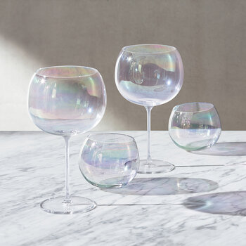 Bubble Balloon Glass - Set of 4 - Pearl