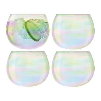 Bubble Rocking Tumbler - Set of 4 - Pearl