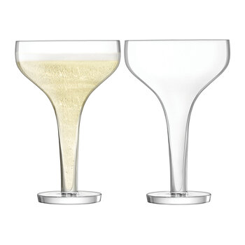 Epoque Champagne Saucer - Set of 2 - Clear