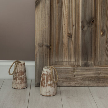 Wooden Doorstop With Rope Handle - Round