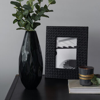 "Leather Stud Photo Frame - 5x7"" - Black"