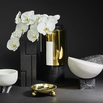 Grace Ceramic Vase - Metallic/Black/White - Large