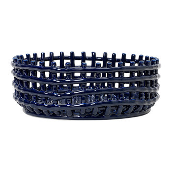 Ceramic Basket Centrepiece - Blue