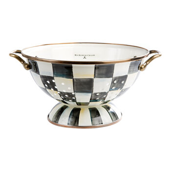 Courtly Check Enamel Colander- Core - Large