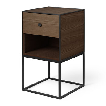 35 Frame Side Table - Smoked Oak/Black