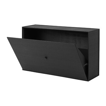 Frame Shoe Cabinet - Black Stained Ash