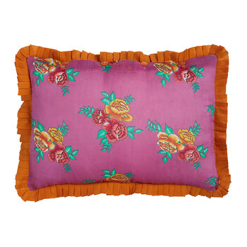Coussin Flower Bunches - Violet/Moutarde