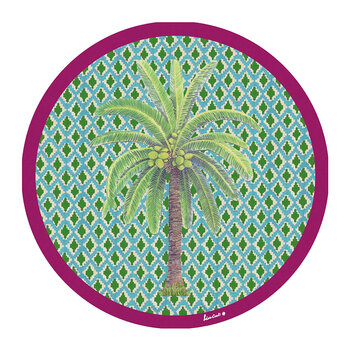 Palm Tree Placemat - Set Of 2 - Green