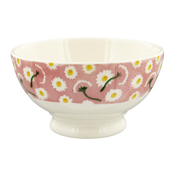 Pink Daisy Bowl - French Bowl