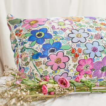 Paint By Flora Silk Pillowcase