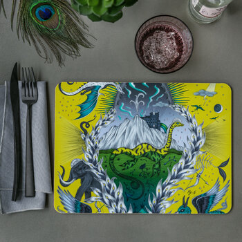 Highlandia Placemat - chartreuse