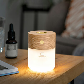 Smart Diffuser Lamp - Natural White Ash Wood