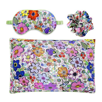 Paint by Flora - Silk Scrunchie/Eye Mask/Pillowcase Set