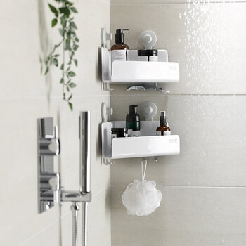 EasyStore Corner Shower Caddy - Set Of 2 - White