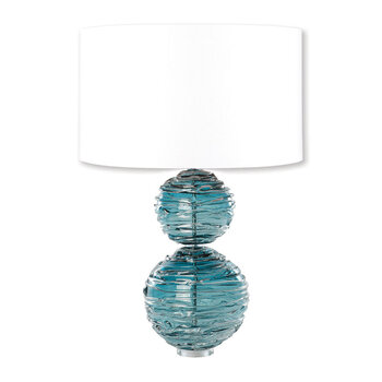 Alfie Crystal Table Lamp Base - Turquoise