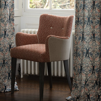 Atworth Carver Side Chair - Natural/Orange