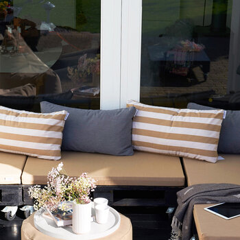 Large Outdoor Cushion - Taupe Stripe