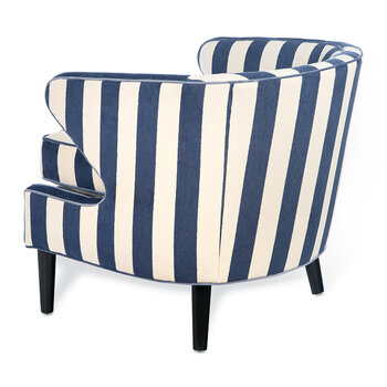 Marquee Accent Chair - Chenille Navy Stripe