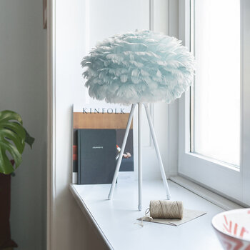 Eos Feather Lamp Shade - Light Blue