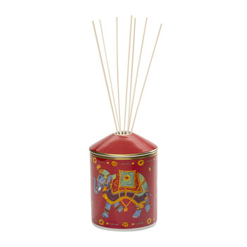 Ceremonial Indian Elephant Red Reed Diffuser - Gold