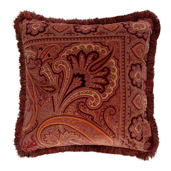 Exeter Bristol Pillow With Passementerie - Red - 60x60cm