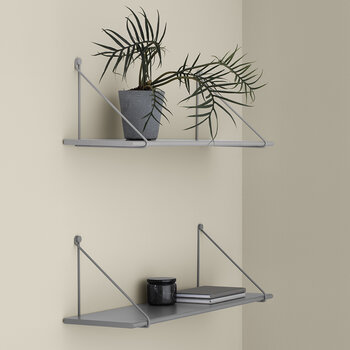 Panola Wires For Wall Shelf - Set Of 2 - Steel Grey