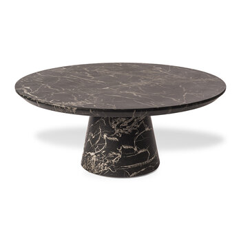 Disc Round Coffee Table - Black Marble