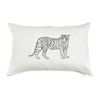 Pure Washed Linen Cushion - 60x40cm - Tiger