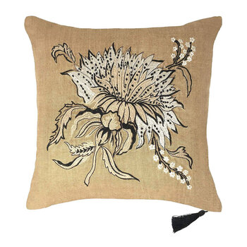 Thistle Linen Pillow - 45x45cm - Design 1